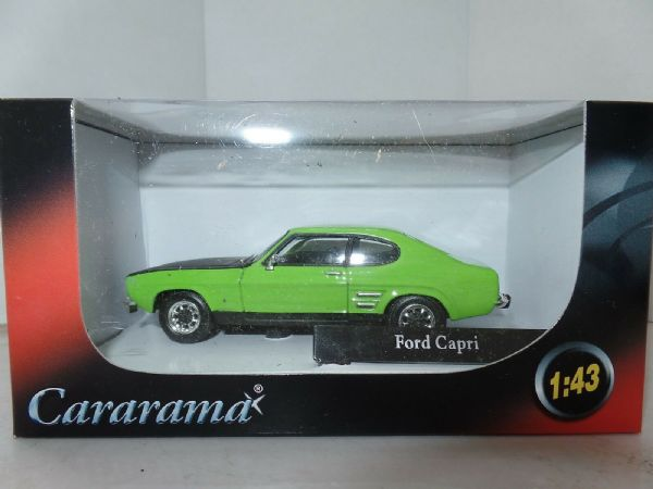Cararama 251-009-5 1/43 O Scale Ford Capri MkI Green Black Bonnet